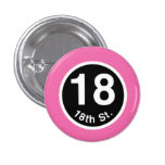 Chicago L 18th St. Pink Line Pinback Buttons