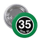 Chicago L 35th St. Green Line Button