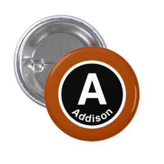Chicago L Addison Brown Line Button
