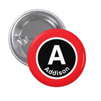 Chicago L Addison Red Line Pinback Button