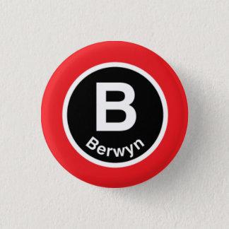Chicago L Berwyn Red Line Button