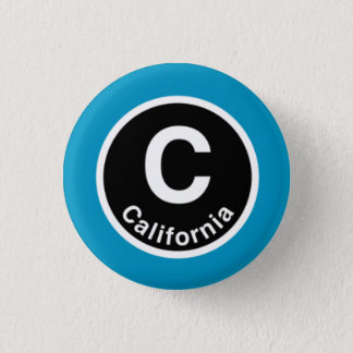 Chicago L California Blue Line Pinback Button