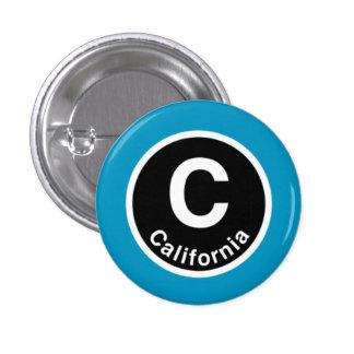 Chicago L California Blue Line Pinback Button