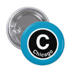 Chicago L Chicago Blue Line Pin