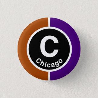 Chicago L Chicago Brown/Purple Line Pinback Button