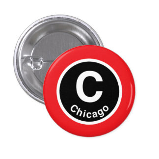 Chicago L Chicago Red Line Pinback Buttons