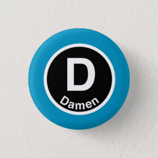 Chicago L Damen Blue Line Button