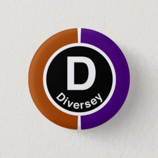 Chicago L Diversey Brown/Purple Line Button