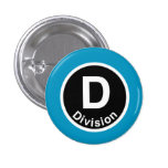 Chicago L Division Blue Line Pinback Button