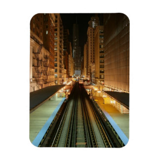 """Chicago """"L"""" estación en la noche Iman"""