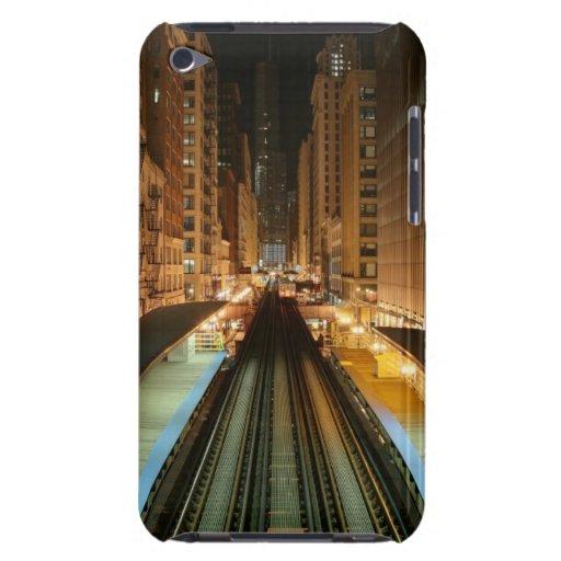 """Chicago """"L"""" estación en la noche iPod Touch Fundas"""