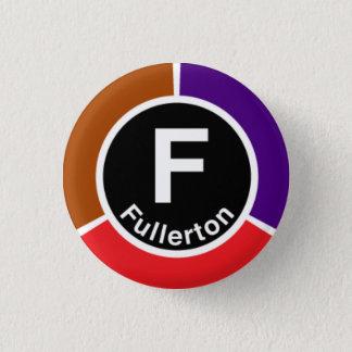 Chicago L Fullerton Brown/Red/Purple Line Button