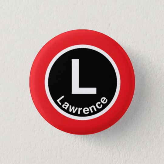 Chicago L Lawrence Red Line Pinback Button
