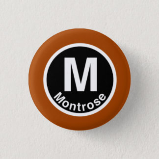Chicago L Montrose Brown Line Button