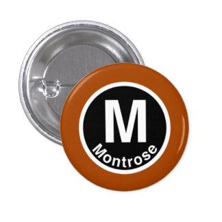 Chicago L Montrose Brown Line Button