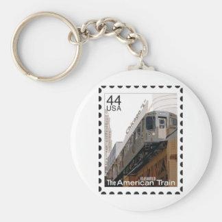 Chicago L sello Llavero Redondo Tipo Pin