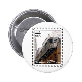 Chicago L sello Pin Redondo 5 Cm
