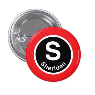 Chicago L Sheridan Red Line Pinback Button
