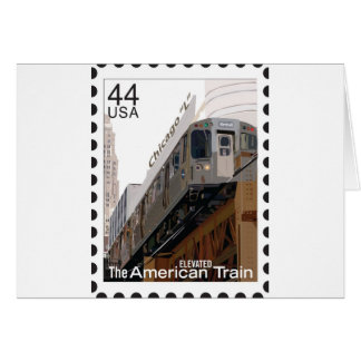 Chicago L Stamp Greeting Card
