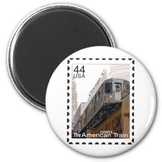 Chicago L Stamp Magnet