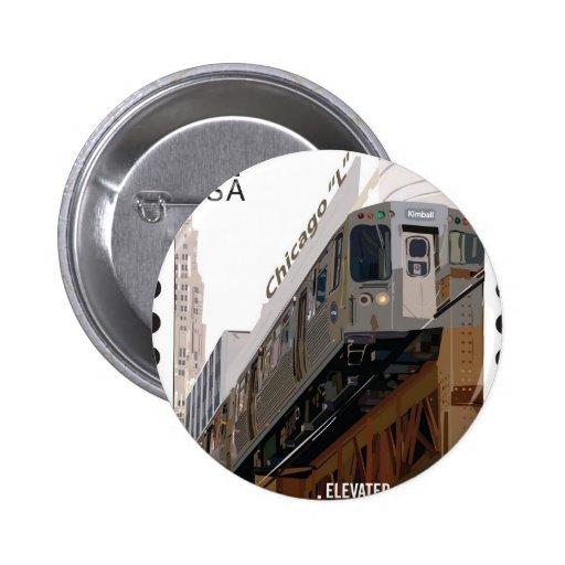 Chicago L Stamp Pins