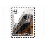 Chicago L Stamp Postcard