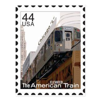 Chicago L Stamp Postcards