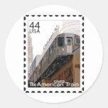 Chicago L Stamp Round Stickers