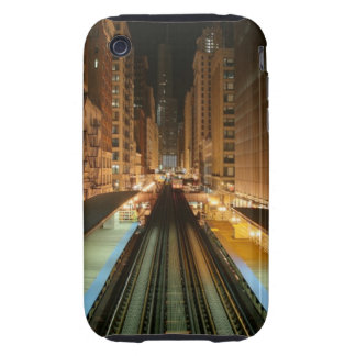 Chicago 'L' Station at Night iPhone 3 Tough Case