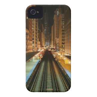 Chicago 'L' Station at Night iPhone 4 Cover