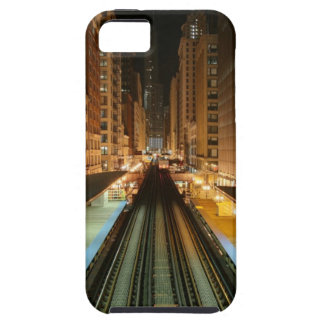 Chicago 'L' Station at Night iPhone 5 Covers