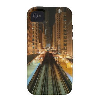 Chicago 'L' Station at Night Vibe iPhone 4 Covers