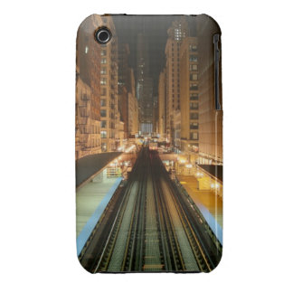Chicago 'L' Station at Night Case-Mate iPhone 3 Case