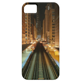 Chicago 'L' Station at Night iPhone 5 Case