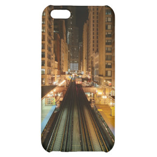 Chicago 'L' Station at Night iPhone 5C Cases