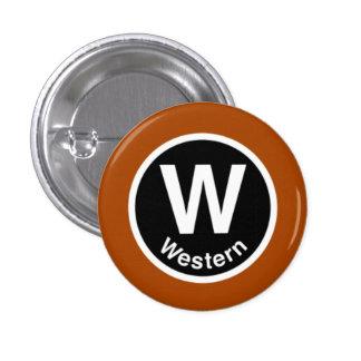 Chicago L Western Brown Line Button