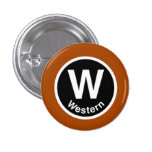 Chicago L Western Brown Line Pin