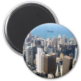 Chicago, la ciudad ventosa imán redondo 5 cm