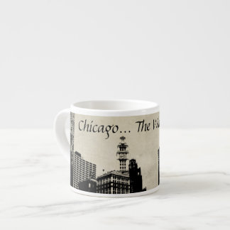 Chicago la taza ventosa del café express de la ciu