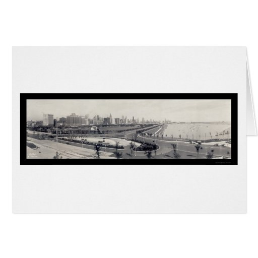 Chicago Lakefront Photo 1938 Card
