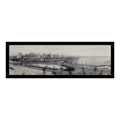 Chicago Lakefront Photo 1938 Poster