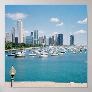 Chicago Lakefront Skyline Poster/Print Poster