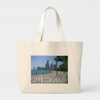 Chicago Lakeshore Large Tote Bag
