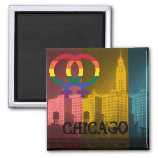 Chicago Lesbian Interest Colorful Pride Gay Magnet