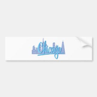 CHICAGO-Light-Blue Bumper Sticker