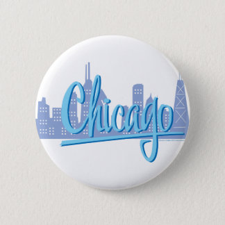 CHICAGO-Light-Blue Pinback Button