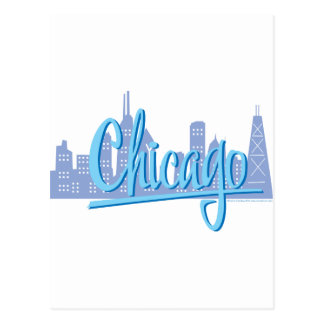 CHICAGO-Light-Blue Postcard