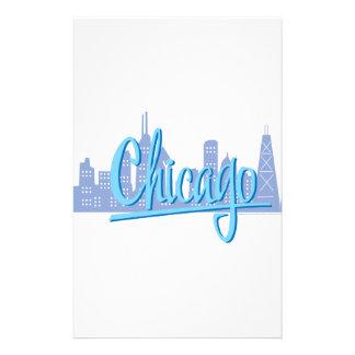 CHICAGO-Light-Blue Stationery
