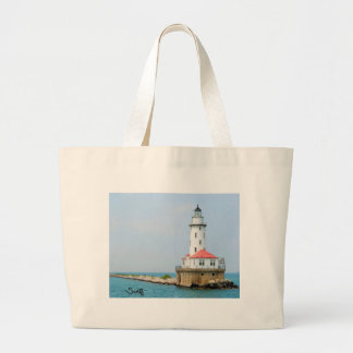 Chicago Lighthouse Large Tote Bag