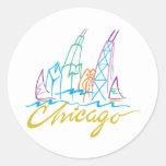 Chicago Line Syline Sticker